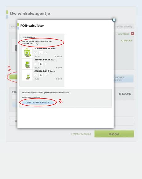 De PON-calculator vertelt jou welke hoeveelheid je nodig hebt voor jouw plantenpot.