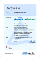 Certificate environmental management system